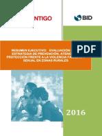 Resumen Ejecutivo Evaluacion Estrategia Violencia Familiar Sexual Zonas Rurales 2016