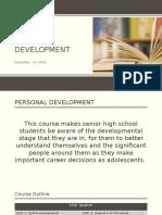 Personal Development Day 1 - 10 Nov 2016