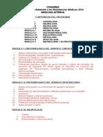 Programa Medicina Interna 2016