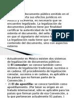 tipos de legalizacion de documentos