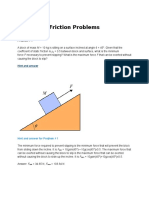 Friction Problems