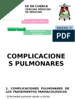 Complicaciones Pulmonares- Valeria Rivera Grupo g