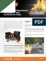 Sistema de Entrenamiento de Extinción de Fuego