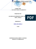 Algebra Lineal Fase 1 de Trabajo Colaborativo 1