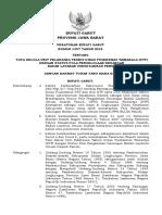 Perbup No. 1437 Tahun 2015perbup No 1437 Th 2015 Ttg Tata Kelola Wanaraja (Dtp)