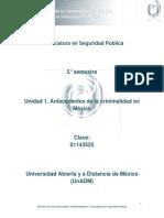 Unidad 1. Antecedentes de La Criminalidad en Mexico