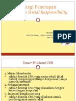 Strategi Penerapan CSR