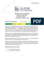 group 2 project status report problems rwade