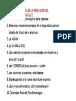 ESTRUCTURA DE PLAN ESTRATEGICO