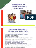 Caracteristicas Del Desarrollo Psicomotor en Los Niños