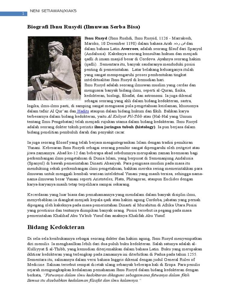 Biografi Ibnu Rusydi
