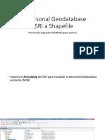 De Personal Geodatabase ESRI a Shapefile