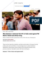 Why Kanhaiya's Statement That 69% of India Voted Against PM Modi is Flawed and Utterly Wrong _ the Indian Express