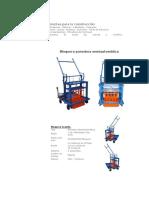 Máquinas y Herramientas Para La Construcción