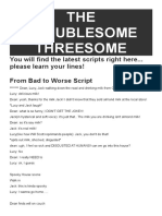 the troublesome threesome scripts final