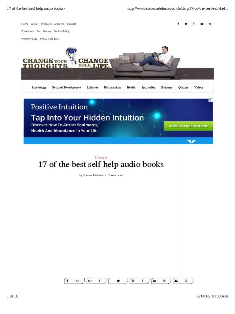17 of the best self help audio books   audiobook   self help