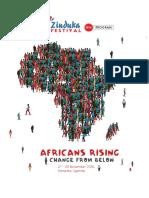 Zinduka Festival 2016 Programme
