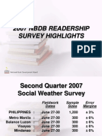 NBDB Readership Survey 2007