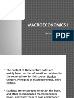 Bcm 221 - Macroeconomic i (Notes)
