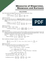 Dispersion, Skewness and Kurtosis