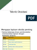 Teknik Oksidasi Dam Metalisasi