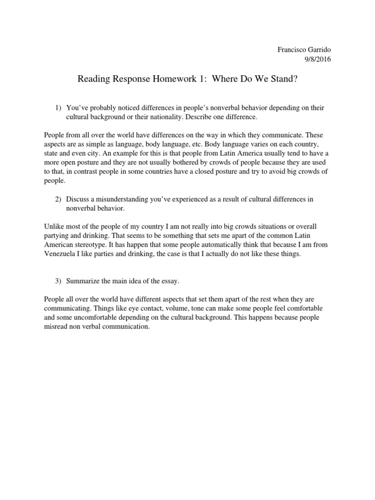 nonverbal communication essay essay of books interpersonal  reading response homework