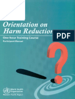 [WHO] Orientation on Harm Reduction