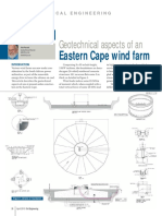 Parrock, A. (2013) Geotechnical Aspects of an Eastern Cape Wind Farm