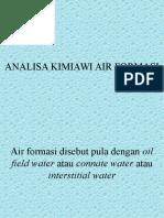Analisa Kimiawi Air Formasi