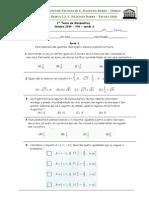 9º ano 1º Teste de Matemática (A,B) ( 09-10) Probabilidades, Conjunto IR, Inequações- Profª Teresa Ribeiro