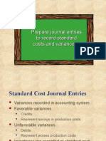 Standard Costing Journal Entries
