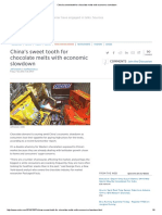 China's Sweet Tooth for Chocolate Melts With Economic Slowdown