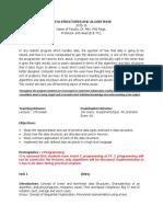 Course Plan DSA_2015-16