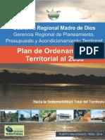 PLAN DE ORDENAMIENTO TERRITORIO - MADRE DE DIOS (2014)