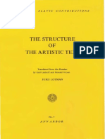 Lotman, Jurij (1977) the Structure of the Artistic Text
