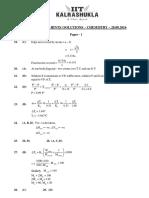Chemistry Solution Paper 1 Not Taken