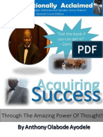 Acquiring Success Through the Amazing Power of Thought