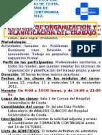 2012 Tecnicas de Organizacion Trabajo1