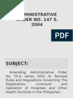 Administrative Order No