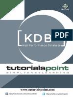 Kdbplus Tutorial