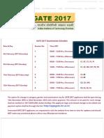 GATE 2017 Official Website