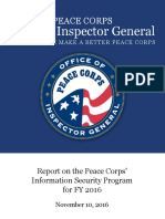 Report on the Peace Corps' Information Security Program  FISMA Final Report