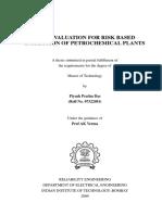Risk Evaluation for Risk Based InspectioB