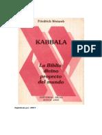 130664992 Kabbala La Biblia Divino Proyecto Del Mundo Weinreb Friedrich