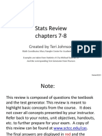 Stats Review ch 7-8