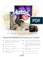 Especificaciones Matrix Proteina