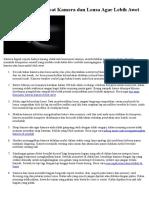 11 Tips Cara Merawat Kamera dan Lensa Agar Lebih Awet.docx