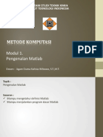 Modul 1 Pengenalan Matlab