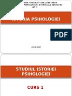 Curs 1. Studiul Istoriei Psihologiei