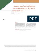 ortodôntico-cirúrgico de deformidade dentofacial de Classe II